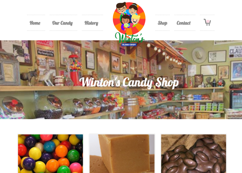 Winton's Candy Website Transformation